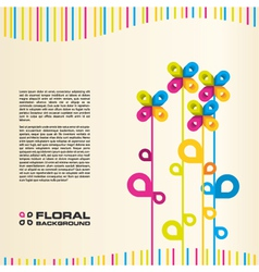 abstract floral layout background vector image vector image