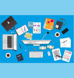 business meeting and teamwork vector image