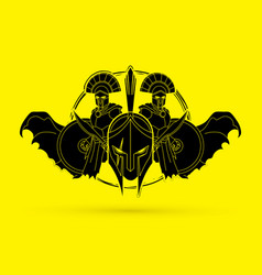 roman or greek helmet spartan helmet vector image
