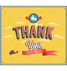 Thank you very much vintage emblem vector image vector image