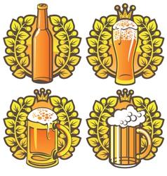 beer glasses vector image