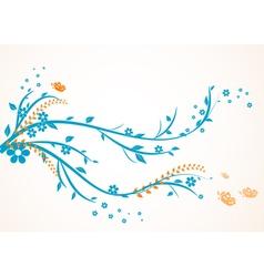 Floral swirl design vector image