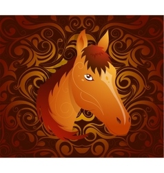 Horse as symbol for year 2026 vector image vector image