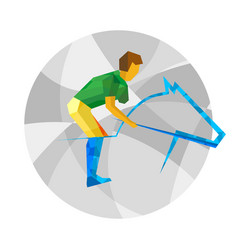 physically disabled horseman flat sport icon vector image vector image