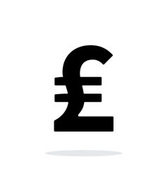 Pound sterling icon on white background vector image vector image