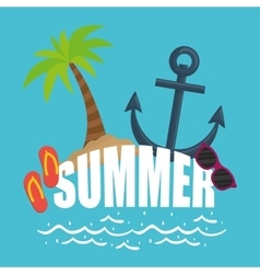 Summer time design Vacation icon Beach concept vector image