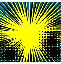 Sunbeam comic dot speech bubble vector image