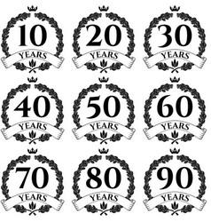 10 100 anniversary oak wreath icon2 vector image