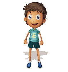 3D of a boy vector image