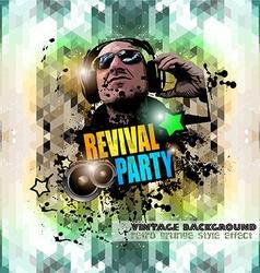 Attractive club disco flyer background vector