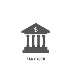 bank icon simple flat style vector image