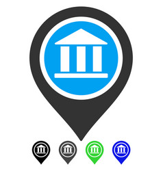 Bank map pointer flat icon vector