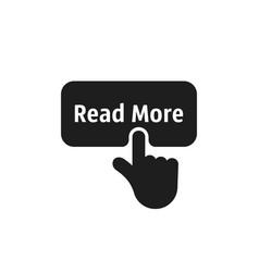 Black read more simple icon vector