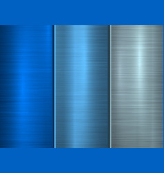 blue technology metal background vector image