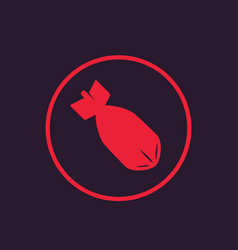 Bomb icon in circle vector