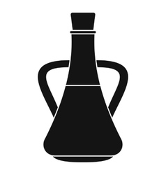 Bottle with olive oil icon simple style vector