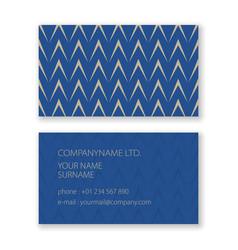 Business card with geometric herringbone pattern vector