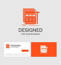 business logo template for internet page web vector image
