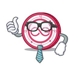 Businessman aeternity coin character cartoon vector