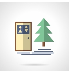 Camping outdoor wc flat icon vector