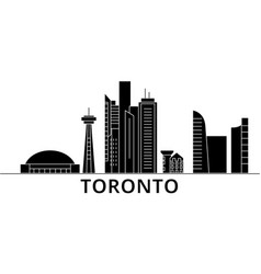 canada toronto city architecture city vector image