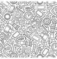 Cartoon cute hand drawn Photo seamless pattern vector