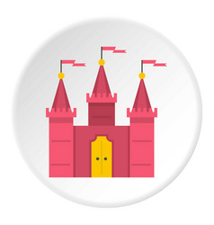 castle icon circle vector image