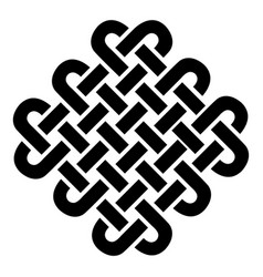 Celtic style square based on eternity knot pattern vector