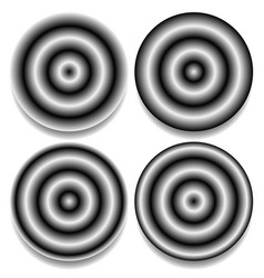 Circles with different contrasty gradient fills vector