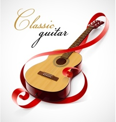 classic guitar as clef simbol vector image
