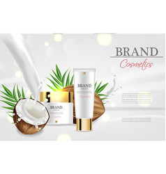 coconut cream moisturizer realistic vector image