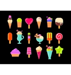 Collection of 17 ice cream vector