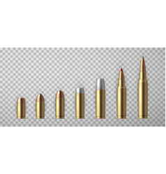 collection realistic bullet vector image