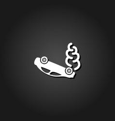crash car icon flat vector image