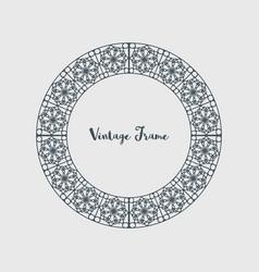 Decorative circle frame vector