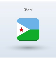 Djibouti flag icon vector
