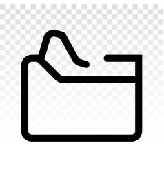 Document folder file folder or binder line art vector