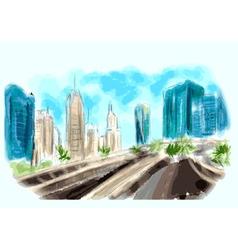 dubai centr skyline vector image