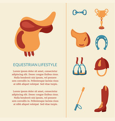 Equestrian design vector