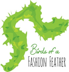 Fashion Feather vector