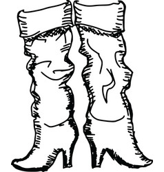 Female boots vector
