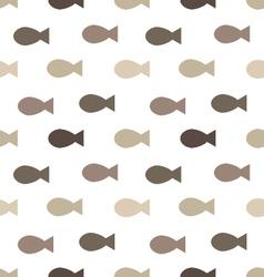 fish seamless patternskeleton of fish vector image