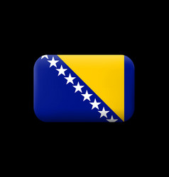 Flag of bosnia and herzegovina matted icon and vector