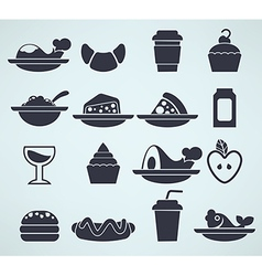 food silhouettes vector image