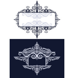 frames with abstract pattern vector image