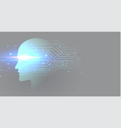 futuristic artificial intelligence technology vector image