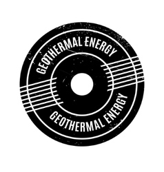 Geothermal Energy rubber stamp vector