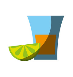 glass lemon flat shadow vector image