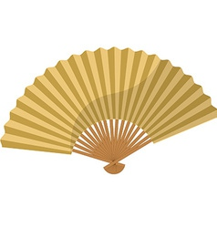 Golden folding fan vector