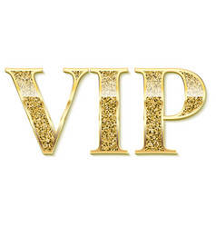 golden symbol exclusivity label vip vector image